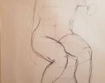 Female Figure Line Drawing