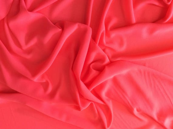 High quality Faux Silk Chiffon, very close to genuine silk chiffon. Coral No27