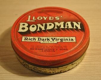 Old Lloyds Bondman  tobacco tin