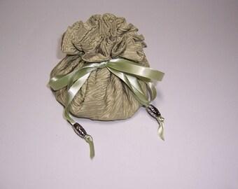 Drawstring Jewelry Bag, Jewelry Pouch, 8 Pocket Pouch, Taffeta Jewel Holder, Travel Accessory