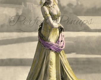 ANTIQUE FRENCH Pin Up - Mata Hari, Vintage Photo, Risque Postcard, Paris, Pinup, Old Photo, Burlesque, Antique Photo, Instant Download