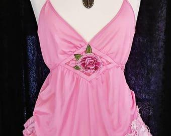 Pink tattered boho dress. Sweetie pie ruffles