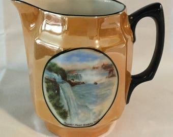 Antique Lusterware Niagara Falls Souvenir Pitcher