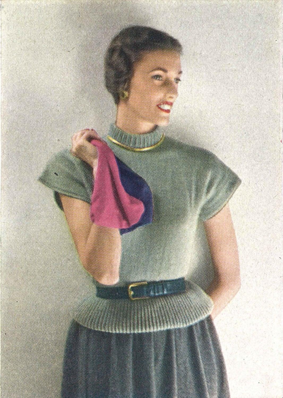 Ruth Sweater • 1940s Knitting Knit Top Ballerina Ballet Blouse Shirt ...