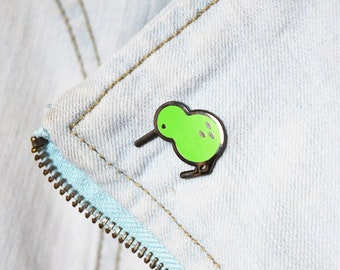 Super Kiwi Hard Enamel Pin | hard enamel pin, kiwi bird, kiwi, bird lovers