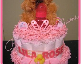 1 Tier Diaper Cake