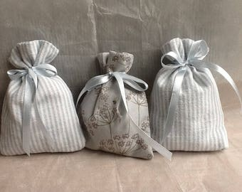 3 X lavender scented sachets in duck egg blue  stocking fillers