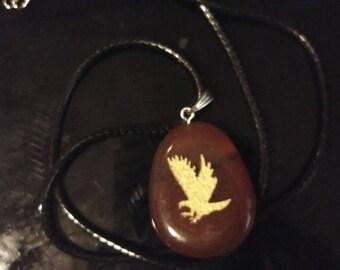Bird Spirit Stone Pendant | Necklace | New Age | Animal