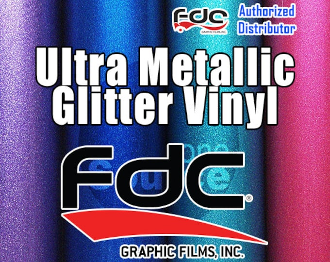 "10PK / 12""x 24"" NEW / FDC® 3700 Premium Ultra Metallic Vinyl Film"