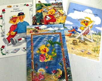 Vintage Suzy's Zoo Greeting Cards - Set of Four - NO ENVELOPES