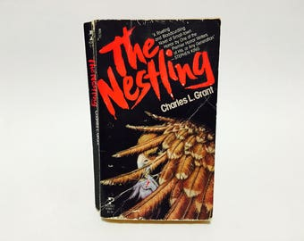 Vintage Horror Book The Nestling by Charles L. Grant 1982 First Edition Paperback