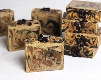 Soap with coffee scrub