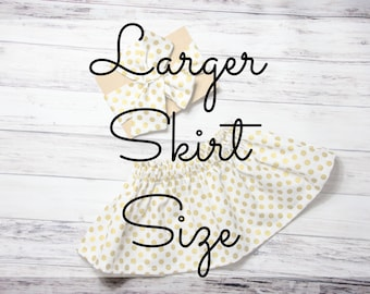 Larger Skirt Size Add On