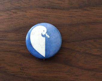 Peace Dove Vintage Button