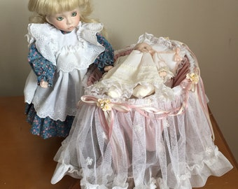 WELCOME HOME               Porcelain baby doll by Phyllis Parkins