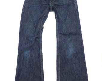 Women's Vintage s. OLIVER Zip Fly Stretch Bootcut Blue Denim Jeans Size W28 L28  UK8 - UK10