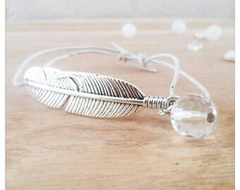 Lana in leather & Swarovski Crystal bracelet