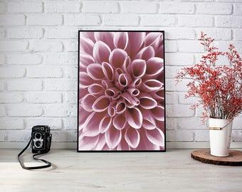 Poster print flower photography (available in black and white)