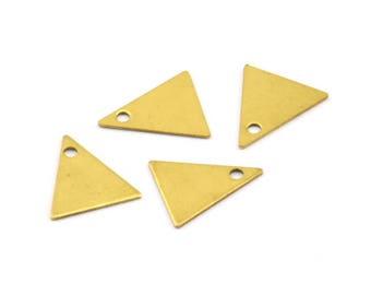 Triangle Necklace Charm, 300 Raw Brass Triangle Charms (10x9mm) Brs 424 A0047