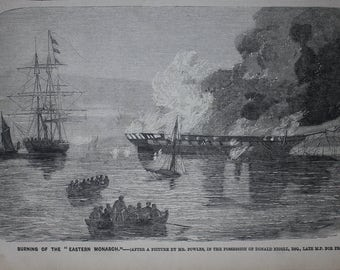 "Burning of the ""Eastern Monarch"""