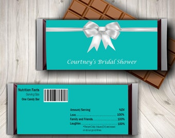 Tiffany and Co, Tiffany Blue, Breakfast at Tiffanys, Candy Bar Wrapper, Tiffany Blue Wedding, Tiffany Party, Tiffany Baby Shower, Printable