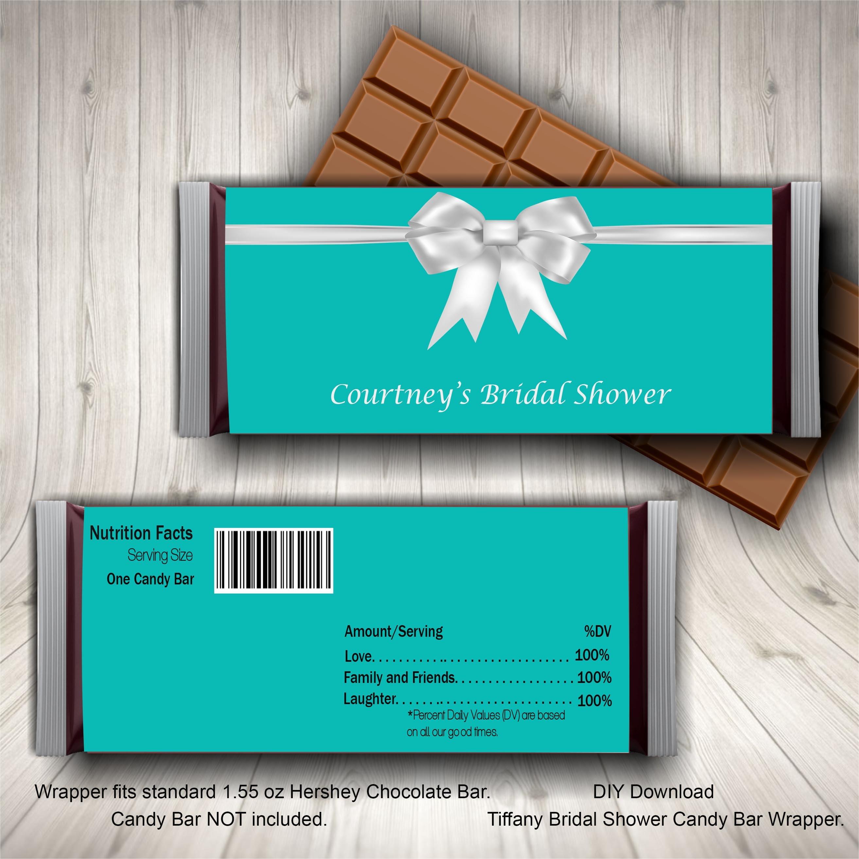 Breakfast at Tiffany Candy Bar Wrapper Tiffany Blue Bridal