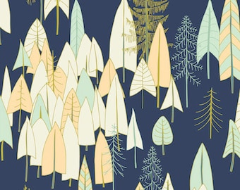 Cotton fabric height - Dashwood designer Pippa Shaw - Vanoise forest - by 50cm (110)