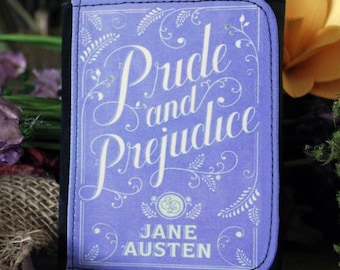 Jane Austen Pride & Prejudice Book Cover Faux Leather Wallet