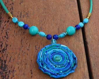 tutorial polymer watch pendant swirled clay youtube necklace