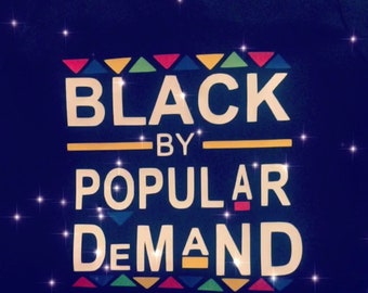 Black by popular demand