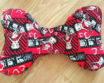 Betty Boop Infant Head Support - Torticollis - Positional Plagiocephaly - Elephant Ear Pillow - Travel Pillow -Unique Baby Shower Gift Idea