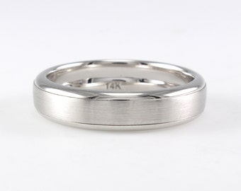 Mens Wedding Band 14K Gold