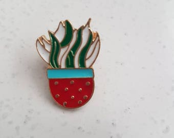 Indoor plant mother in laws tongue Enamel Pin