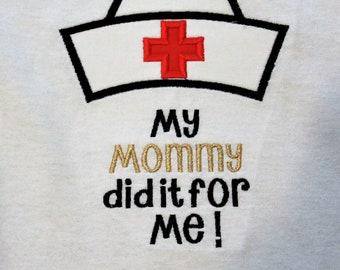 Nurse, nurse graduation, graduation, nurse hat, nursing school graduation, mommy, graduation shirt, tshirt, t shirt, t-shirt, girl, boy