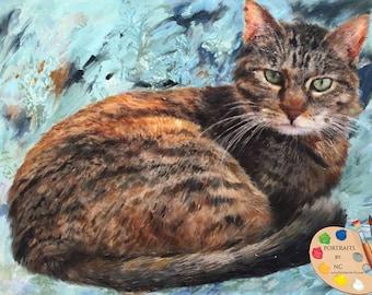 Cat Portraits - Cat Portrait - Cat Painting from your Photo - Portraits by NC