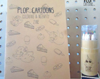 Coloring and Activity Zine by Plop Cartoons