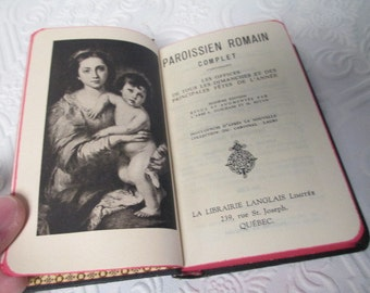 Paroissien Romain Complet - ANTIQUE FRENCH BOOK Religious Prayer Missal 1950