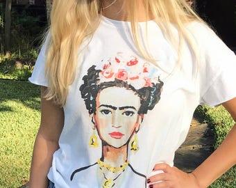 Frida Tee Shirt, T Shirt, cotton top
