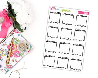 Hand Drawn Bullet Journal Notepad Planner Stickers, Bullet Journal Sticker, BuJo Planner Sticker - [P0345]