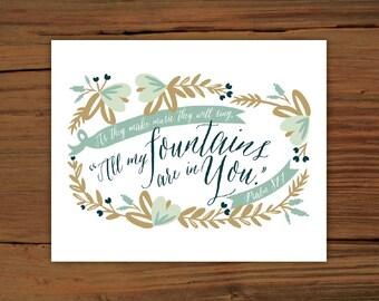 Psalm 87:7 Print