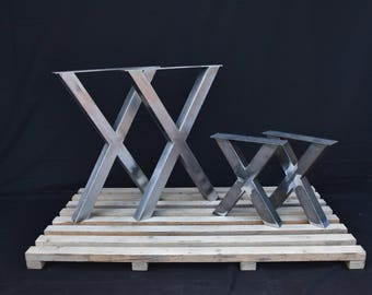 One set contains of four pieces. Two table legs and two bench legs.