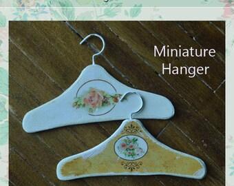 Miniature dress Hanger A-4 set of 2 hangers for dollhouse scale 1/6