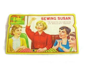 Vintage Sewing Susan with Needles - Japan