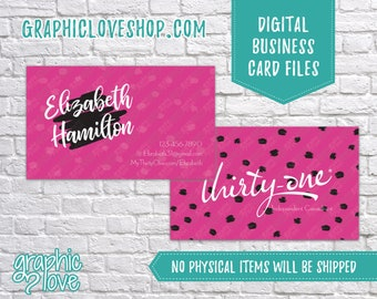 Printable, Personalized Thirty-one Independent Consultant Double Sided Business Card | Digital JPG, PNG & PDF Files, You Print