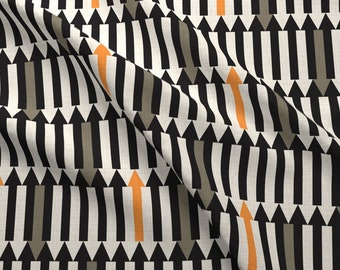 Arrow Fabric - Arrows Of Illusion By Vo Aka Virginiao - Abstract Arrow Cotton Fabric By The Yard With Spoonflower