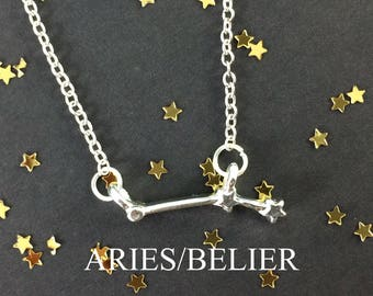 Zodiac Necklace - Astrology Necklace - Aries Necklace - Constellation Necklace - Aries Jewelry - Birthday Gift - Zodiac Symbol - Sister Gift