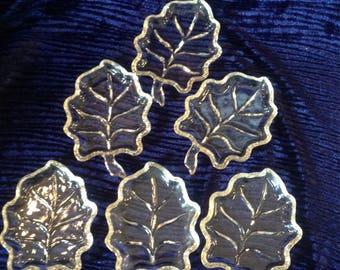 Set of 6 leaf plates