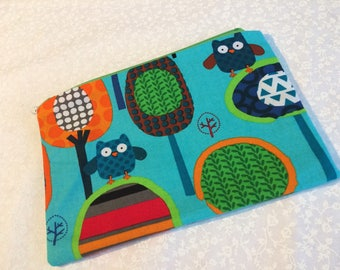 Colorful Owl Coin Make Up Zipper Bag