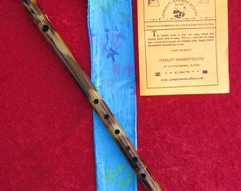 Dark Bamboo Flute - Flute Bag - 50 Song Booklet
