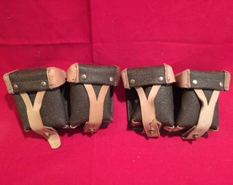 Soviet Army Cold War Era Mosin-Nagant Ammo Pouches